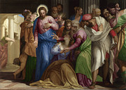 Famous Artists - Christ addressing a Kneeling Woman by Paolo Veronese