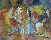 Jesus Art Paintings - Christ and Pharisee      by Ivan Filichev