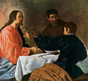 Emmaus Paintings - Christ and the Pilgrims of Emmaus by Diego Velazquez