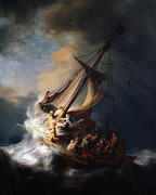 Apostels Framed Prints - Christ And The Storm Framed Print by Rembrandt
