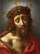 Man Painting Framed Prints - Christ as the Man of Sorrows Framed Print by Carlo Dolci