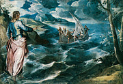 Sea Of Galilee Prints - Christ at the Sea of Galilee Print by Tintoretto