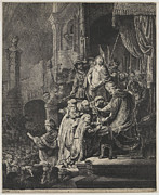 Christ Before Pilate Print by Rembrandt