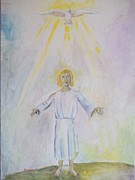 Religious Art Painting Prints - Christ child Print by Lenny Allgeyer