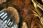 Anglican Photos - Christ Church Cathedral Roof Detail by Bob Christopher