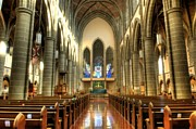 Anglican Prints - Christ Church Cathedral Victoria British Columbia Print by Bob Christopher