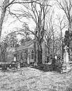 Kingston Prints - Christ Church Cemetery Kingston Parish Mathews Virginia Print by Stephany Elsworth