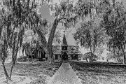 St. Simons Island Art - Christ Church Etching by Debra and Dave Vanderlaan