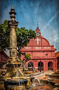 Christ Church Malacca Print by Adrian Evans