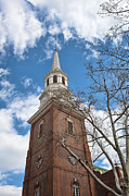 Old Christ Church Prints - Christ Church Steeple Print by Kay Pickens