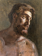 Earthy Paintings - Christ by Gail Schulman