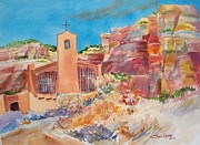 Christ In The Desert Monastery Print by Sue Kemp