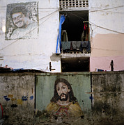 Jesus Christ Icon Prints - Christ In The Slum Print by Shaun Higson