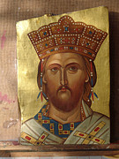 Orthodox Painting Originals - Christ King of Kings and High Priest by Charalampos Gkolfinopulos