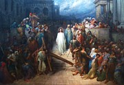 Dore Painting Posters - Christ Leaving The Courtroom Poster by Pg Reproductions