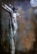 Bible Digital Art Posters - Christ on the Cross  Poster by Andrzej  Szczerski