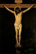 Religious Jesus On Cross Framed Prints - Christ on the Cross Framed Print by Diego Velazquez