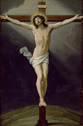 Religious Art Painting Framed Prints - Christ on the Cross Framed Print by Guido Reni