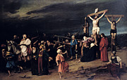 Passion Prints - Christ on the Cross Print by Mihaly Munkacsy