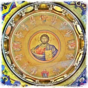 Jesus Christ Icon Prints - Christ Pantocrator -- Church of the Holy Sepulchre Print by Stephen Stookey