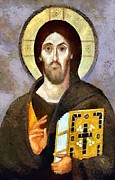 Jesus Christ Icon Prints - Christ Pantocrator of Sinai Print by Dragica  Micki Fortuna