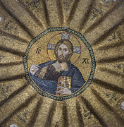 Byzantine Framed Prints - Christ Pantocrator surrounded by the prophets of the Old Testament 1 Framed Print by Ayhan Altun