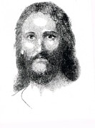 Christ Drawings - Christ by Richard Johns