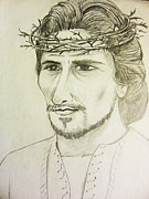 Christ Drawings - Christ The King by Esther Rowden