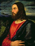 Father Paintings - Christ the Redeemer by Titian
