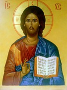 Orthodox Painting Originals - Christ the Savior by Andrey  Peshkov