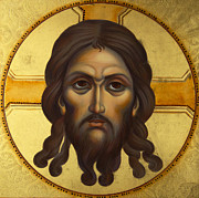 Orthodox Paintings - Christ-UBRUS by Yordanka Karalamova
