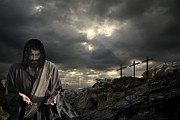 Jesus Pictures Digital Art - Christ Was Once Offered To Bear The Sins Of Many by Acropolis  De Versailles