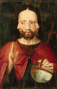 Famous Artists - Christ with Three Faces. The Trinity by Netherlandish School