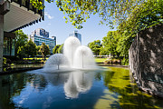 Christchurch Framed Prints - Christchurch New Zealand Ferrier Fountain Victoria Square Framed Print by Colin and Linda McKie