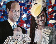 Christened Prince George Print by Mickton Wellbee