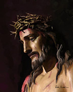 Jesus Artwork Painting Metal Prints - Christian Religious Art of Jesus Paintings - John 3-16 Metal Print by Christian Artist Dale Kunkel