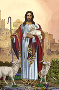 Christian Art Posters - Christian Religious Art of Jesus Paintings - The Good Shepherd Poster by Christian Artist Dale Kunkel