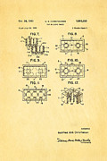 Christiansen Lego Toy Building Block Patent Art 2 1961 Print by Ian Monk