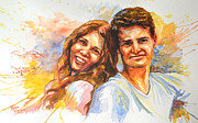 Wedding Reception Paintings - Christina and Steve by Tyler Auman