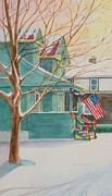 Patriotic Paintings - Christmas 2001 by Sandra Neumann Wilderman