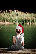Father Christmas Prints - Christmas and Fishing Print by Jt PhotoDesign