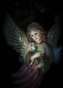 Night Angel Framed Prints - Christmas Angel Framed Print by Fred Adsit