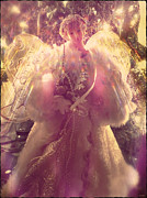 Christmas Angel Posters - Christmas Angel Poster by Linda Sannuti