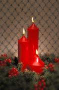Candle Lit Posters - Christmas Arrangement Poster by Don Hammond