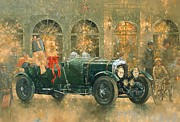 Car Painting Framed Prints - Christmas at Fortnum and Masons Framed Print by Peter Miller