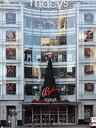 Posh Framed Prints - Christmas at San Francisco Macys Department Store - 5D20550 Framed Print by Wingsdomain Art and Photography
