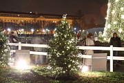 Silhouettes Photo Acrylic Prints - Christmas at the Ellipse - Washington DC - 01132 Acrylic Print by DC Photographer