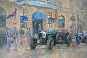 December Painting Framed Prints - Christmas at the Ritz Framed Print by Peter Miller