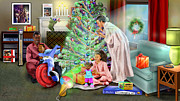 African American Family Prints - Christmas Back In Da Day Print by Reggie Duffie
