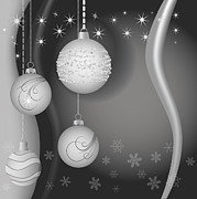 Ornamental Digital Art - Christmas background by Michal Boubin